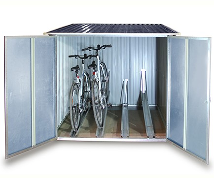 Bicycle garage - steel bike storage