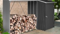 Wood shed with storage